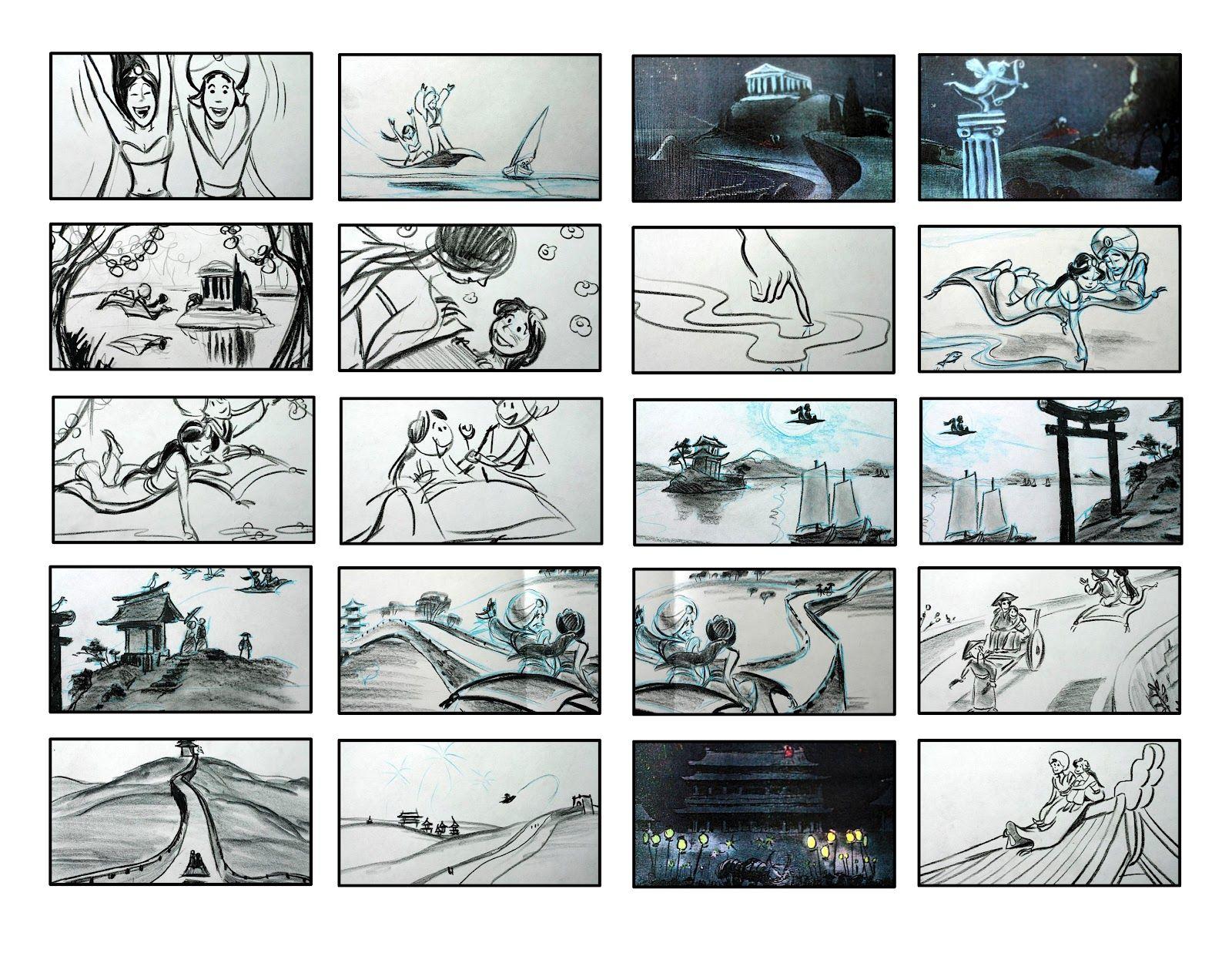 Disney Aladdin Storyboard  Disney Storyboards