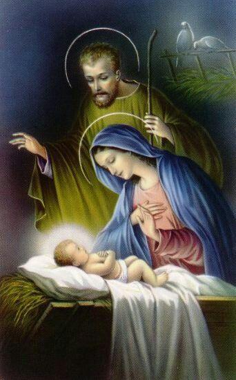 La Virgen María, San José y el Niño Jesús. | Christmas poems, Holy family,  Jesus