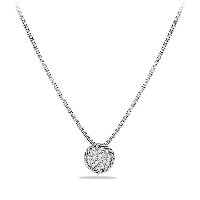 Chatelaine Pendant Necklace With Diamonds David Yurman Necklace Pave Pendant David Yurman Jewelry