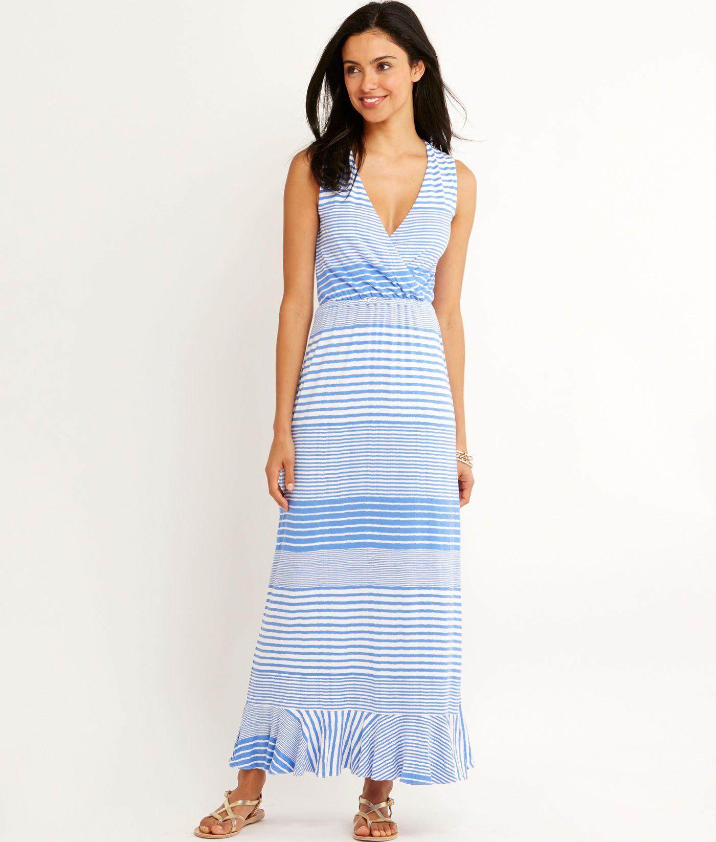 a6c2952286 Shop Windward Stripe Maxi Dress at vineyard vines | Style | Dresses ...