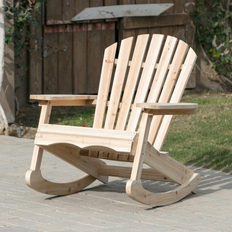 adirondack rocking chair wooden rustic outdoor rocker patio deck rh pinterest com