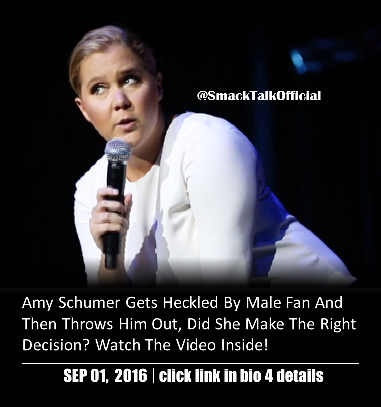 Amy Schumer Gets Heckled By Male Fan And Then Throws Him Out, Did She Make The Right Decision? Watch The Video Inside!