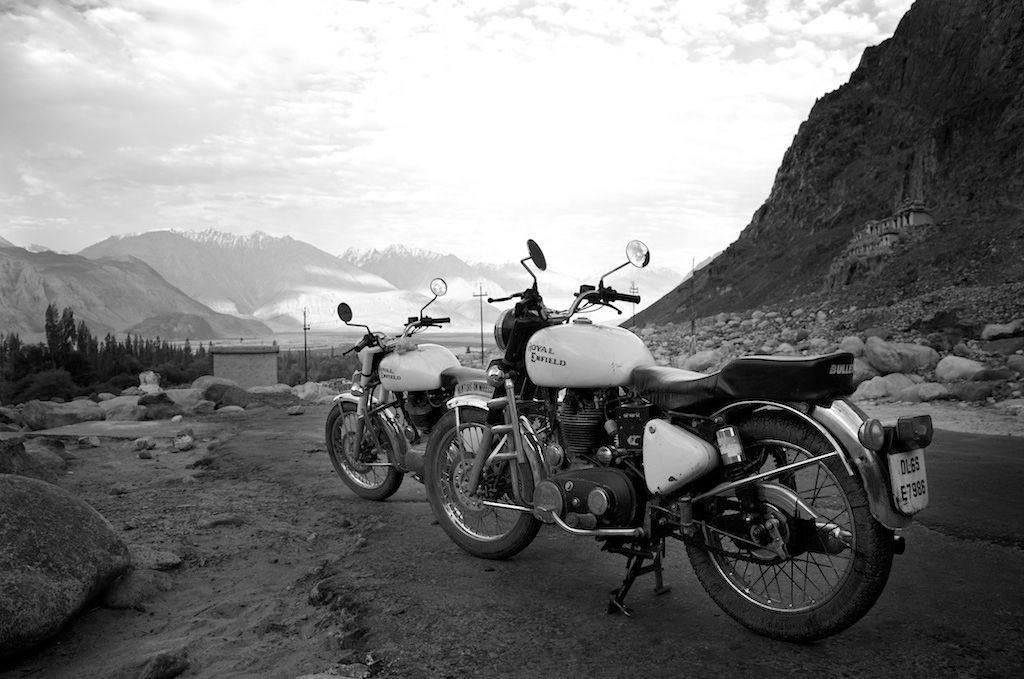 India On An Enfield Bike India Bike Motorbikes