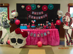 Home Confetti: Monster High Birthday Party for Hailey's birthday party
