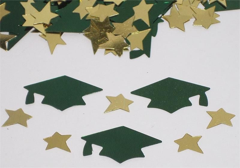 Graduation Party Supplies//Graduation Cap Confetti//Gold Graduation Decorations