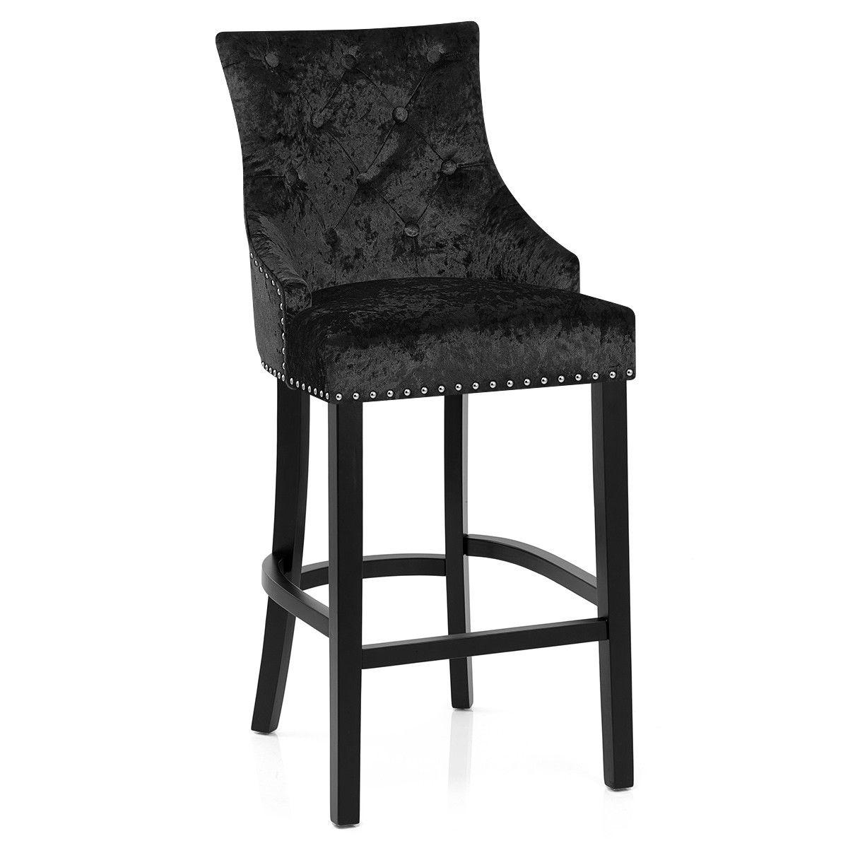 Ascot Bar Stool Black Velvet Atlantic Shopping Bar Stools Kitchen Bar Stools Outdoor Furniture Chairs