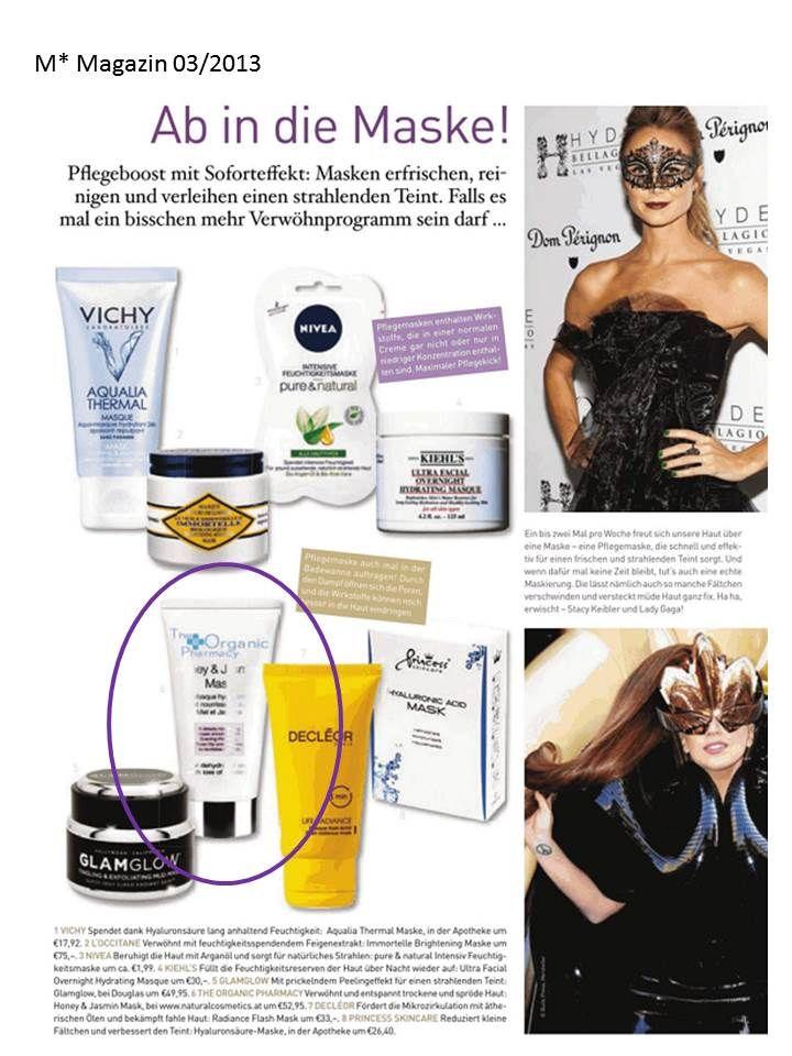 The Organic Pharmacy Honey & Jasmin Mask empfohlen in der aktuellen M*Magazin Ausgabe