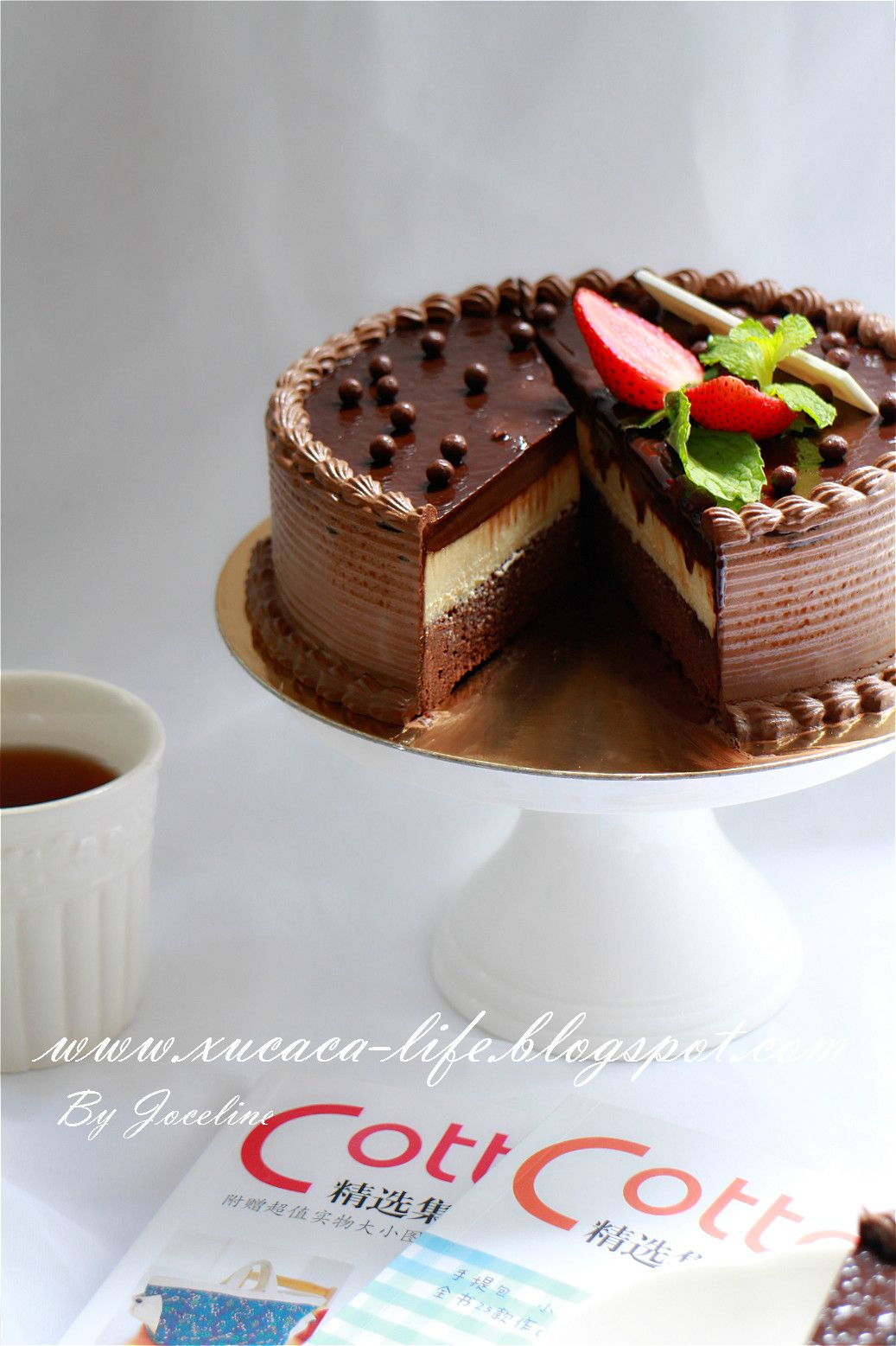 巧克力芝司蛋糕 ( Chocolate Cheese Cake ) Chocolate cheesecake