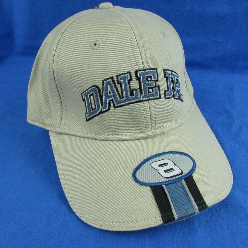 53358ee72a7 Dale Earnhardt Jr  8 Budweiser NASCAR Chase Action Tan Blue Hat Cap  Chase