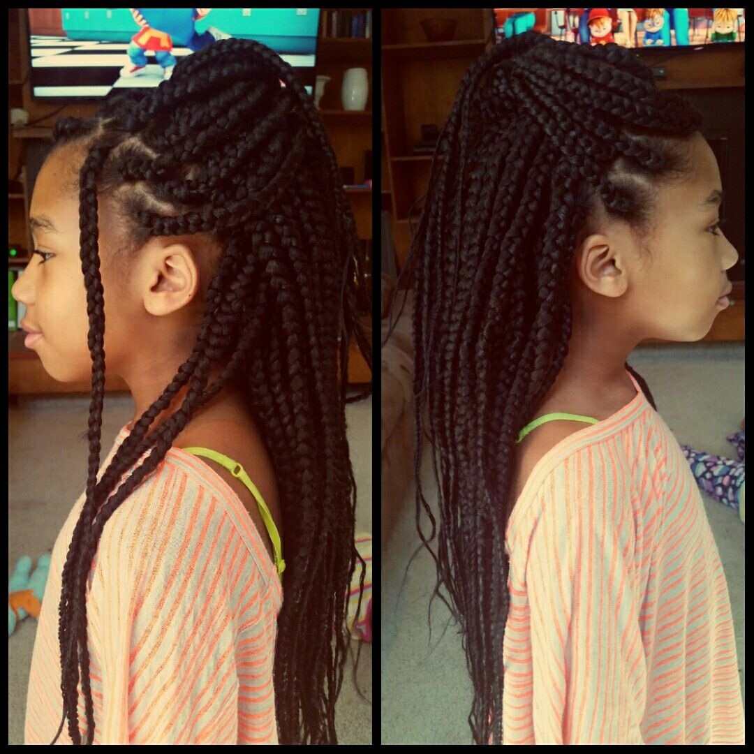 Long Feather Tip Box Braids Using Xpressions Braiding Hair