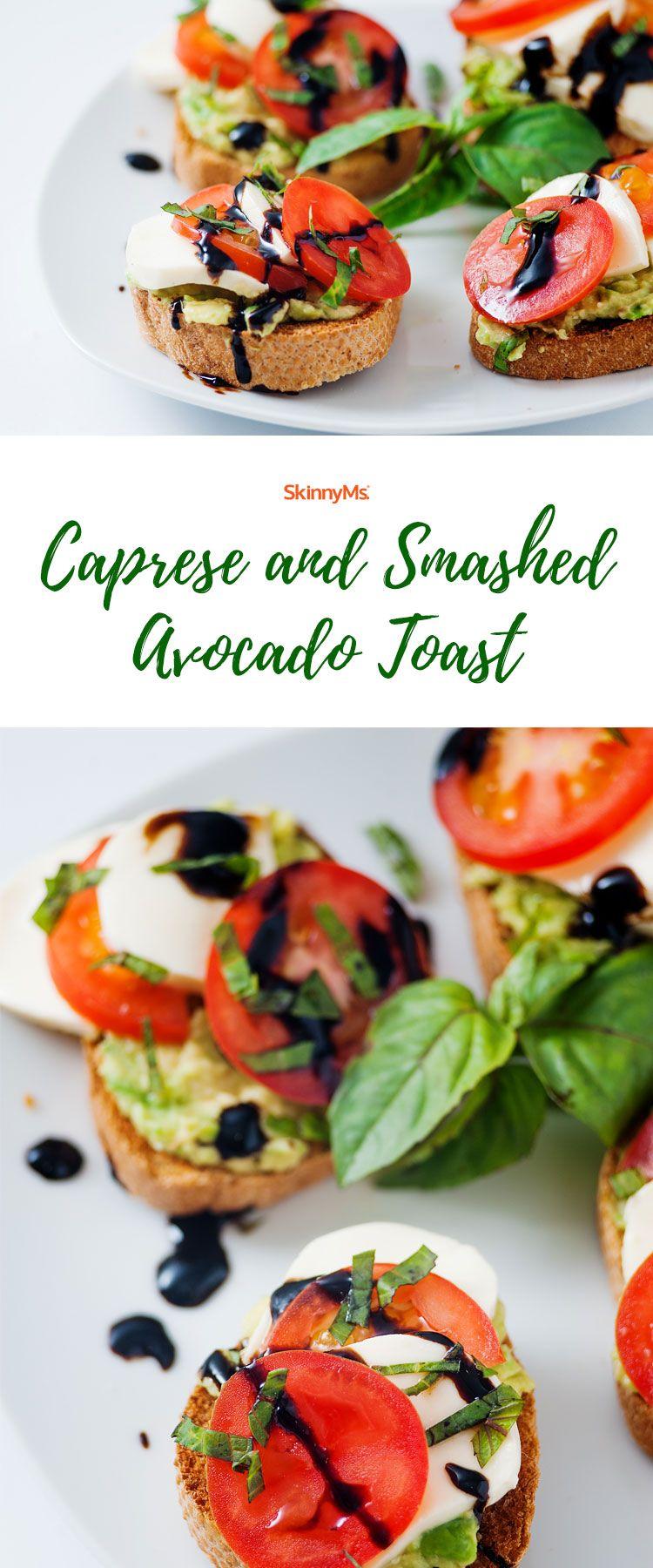 Caprese and Smashed Avocado Toast