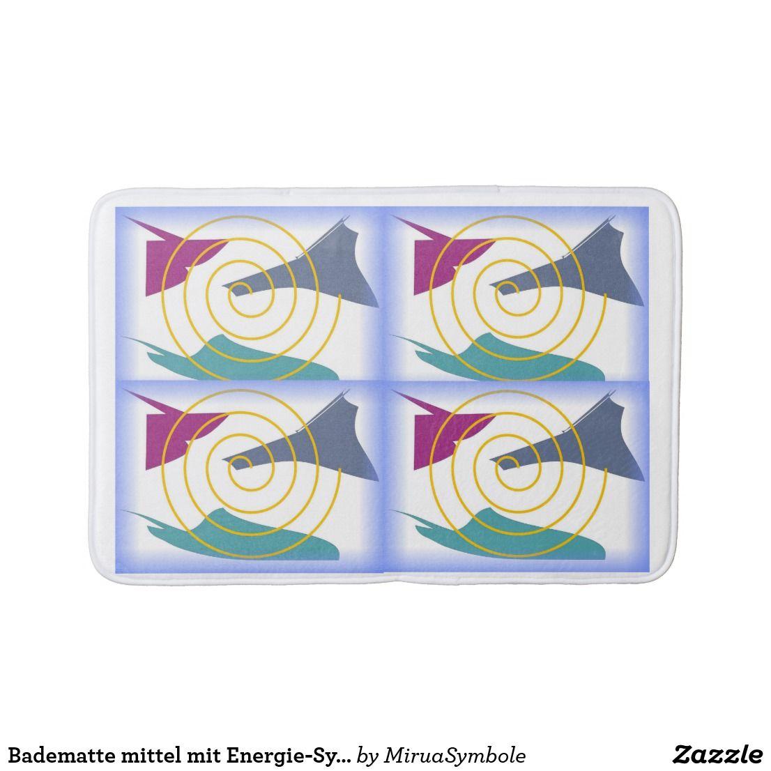 Badematte Mittel Mit Energie Symbol Zazzle De Badematte Baden Und Badezimmer