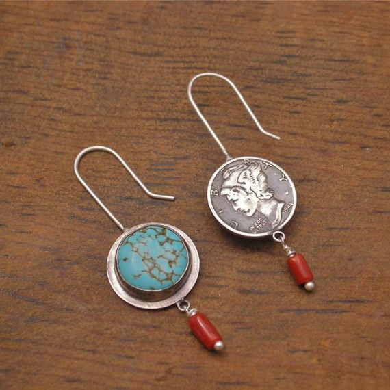 2 Sides to Every Coin Earrings sterling silver by markaplan, $77.77