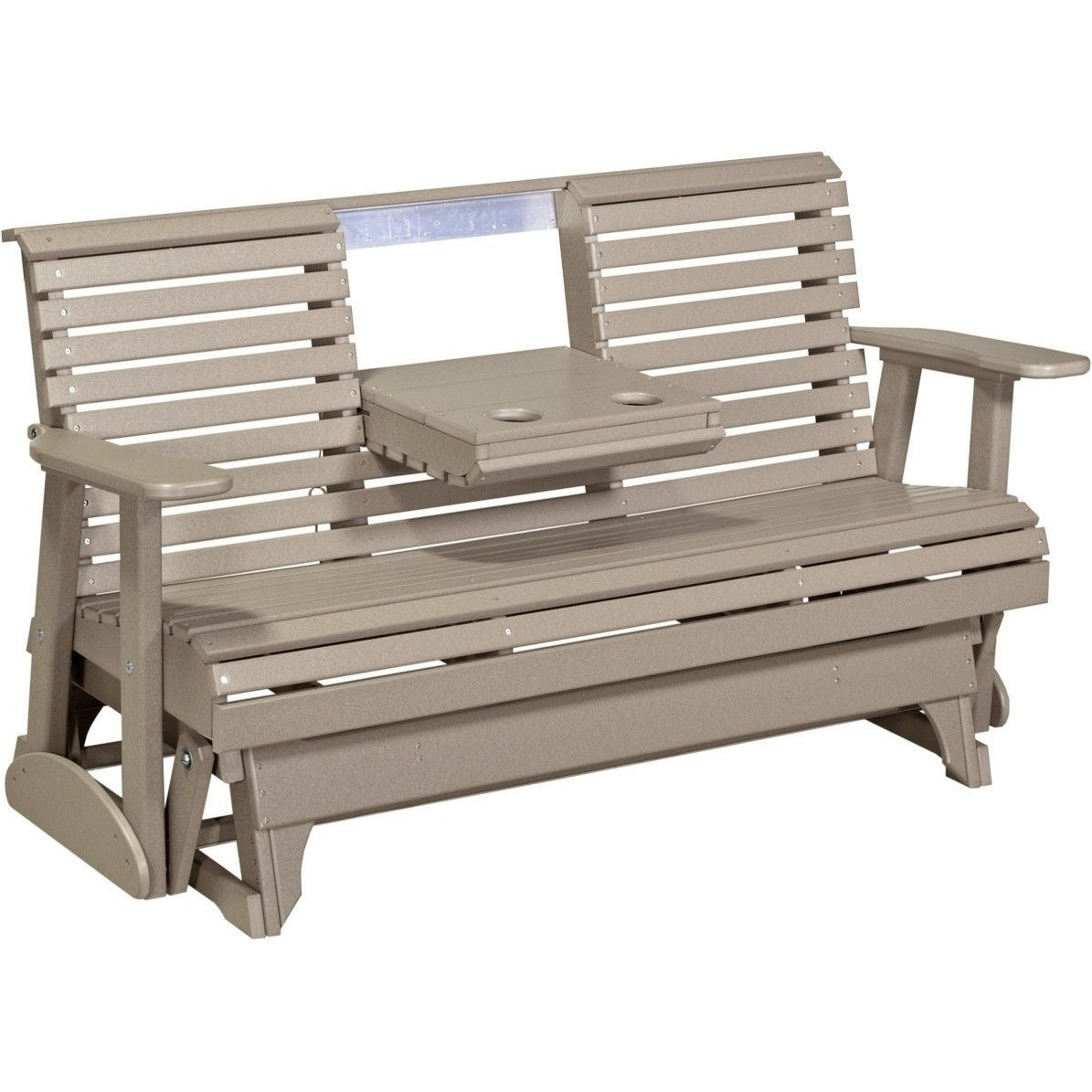 Luxcraft 5 Rollback Recycled Plastic Patio Glider With Flip Down Center Console Lead Time To Ship 14 Weeks