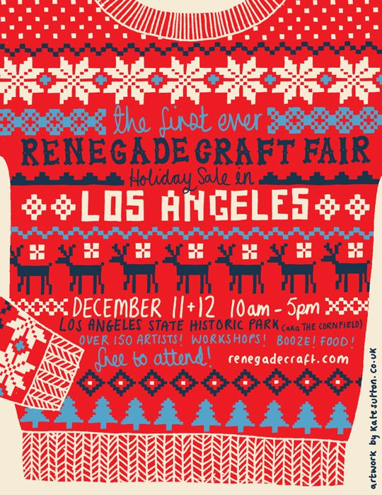 Some cool flyers for past and upcoming Renegade Craft Fairs  around the country. They've clearly stepped it up for the most recent holid...