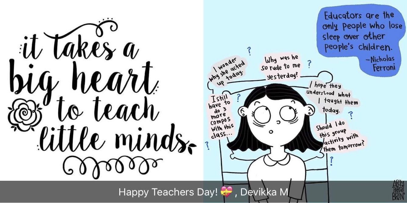 HappyTeachersDay You Moulded Us Into What We Are Today