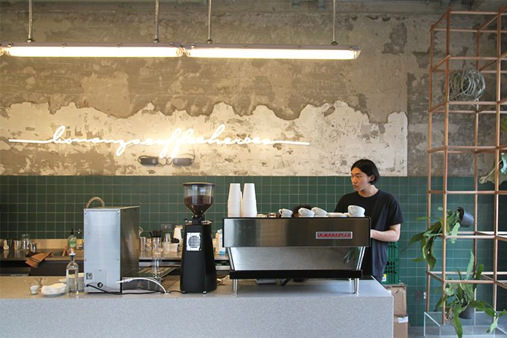 More Than Less A Fresh Boutique Cafe In Seoul Cafe Coffee Shop Store Design