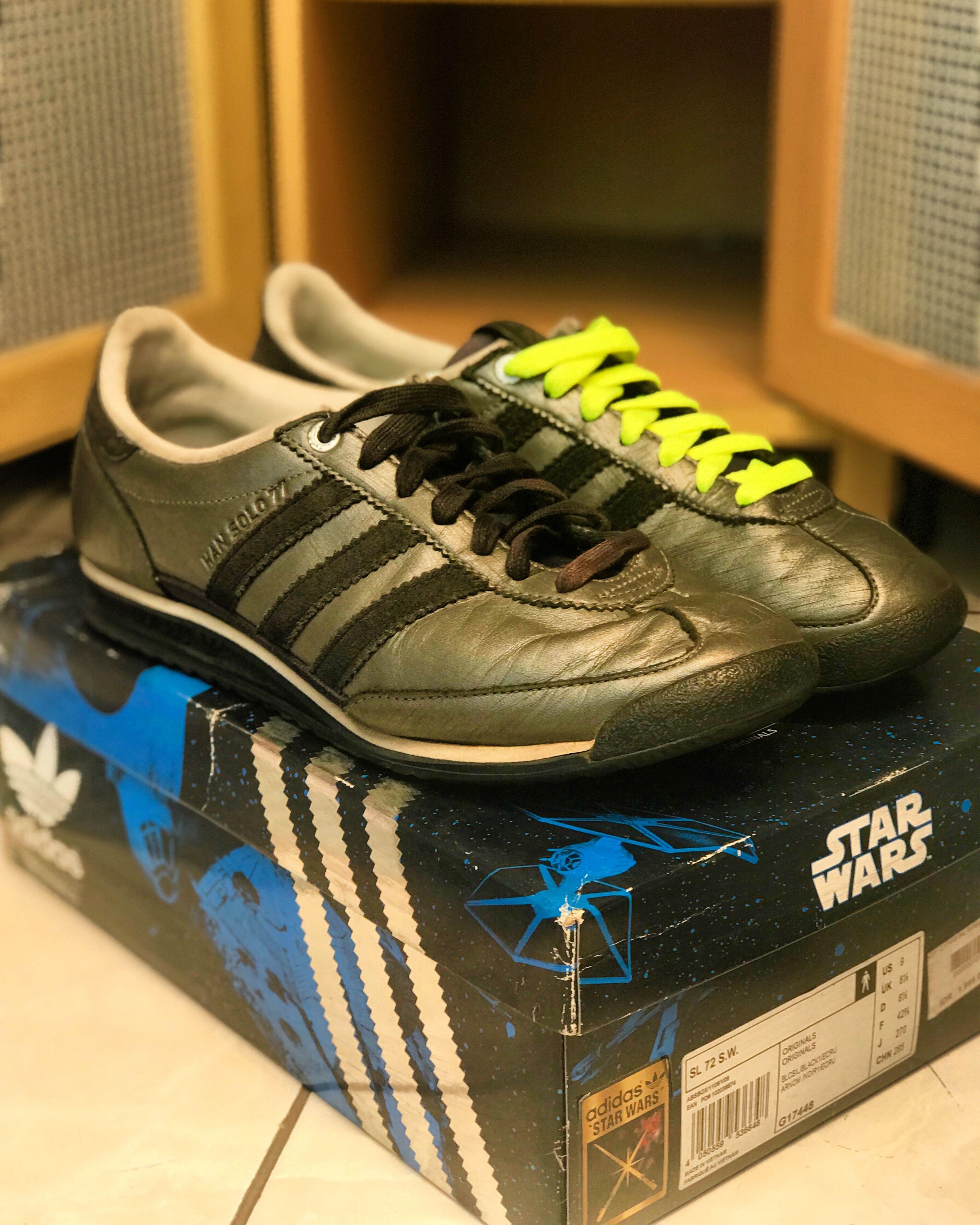 Adidas Originals SL 72 Star Wars Han Solo 77   Adidas sneakers ...
