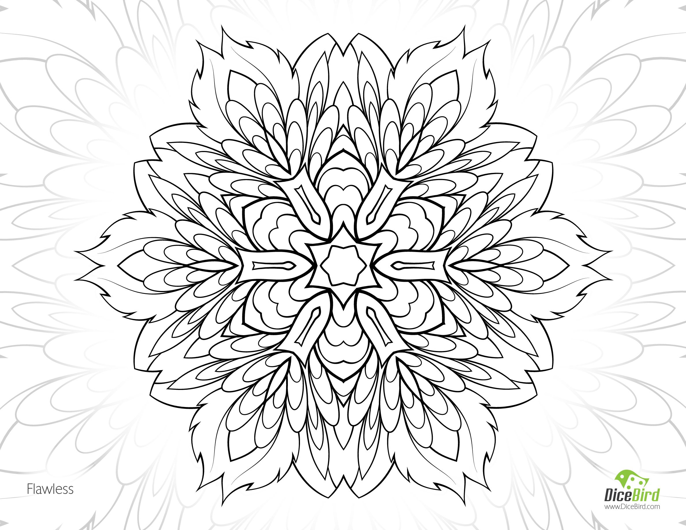 Flawless Flower Free Coloring Pages For Adults To Print Mandala