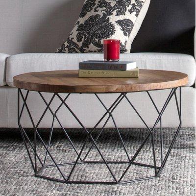 Ahart Frame Coffee Table Coffee Table Round Wood Coffee Table