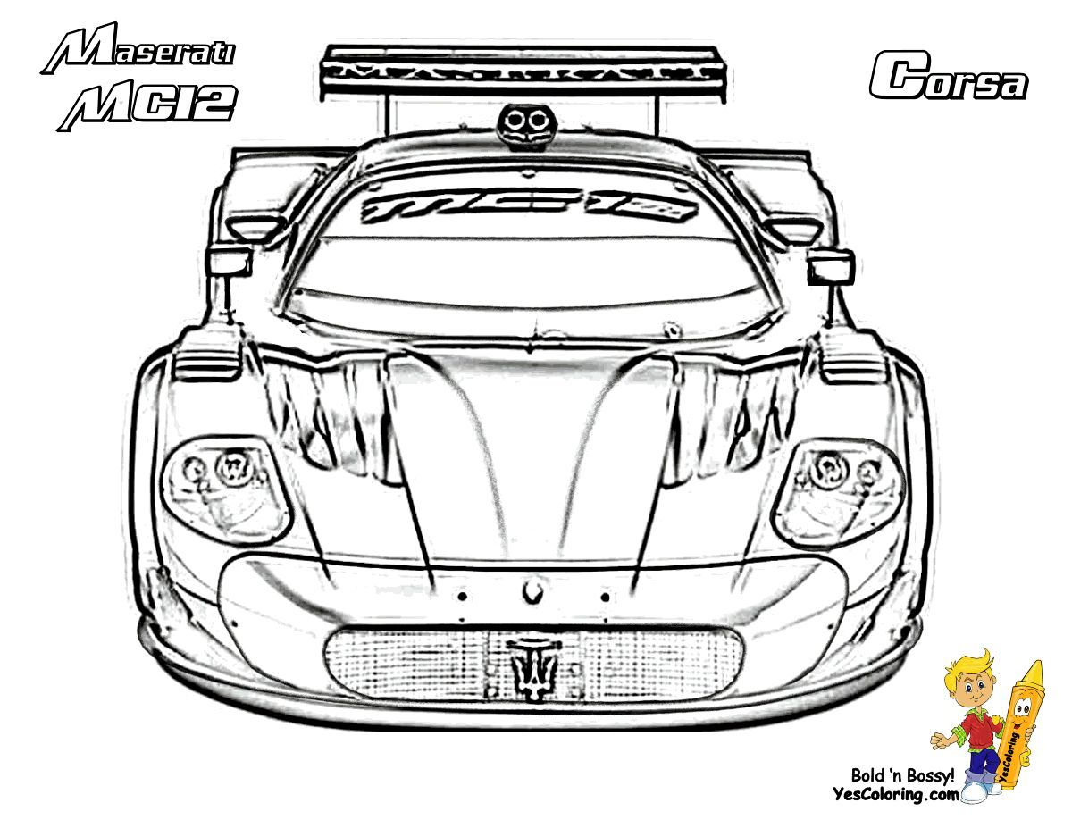 Print Out This C12 Maserati Supercar Coloring Page Free!