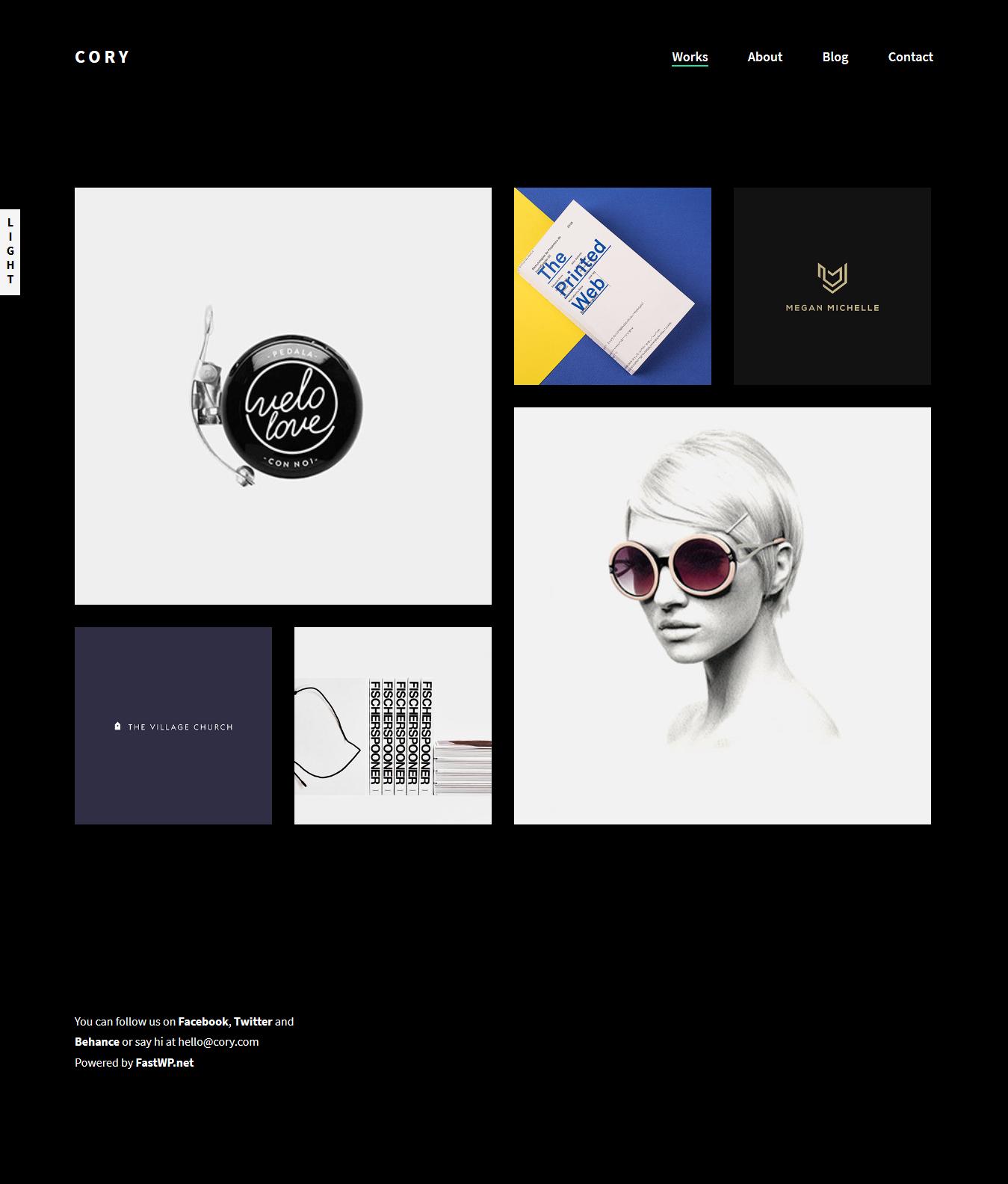 cory is a dark minimalist portfolio theme with a simple design but rh pinterest com