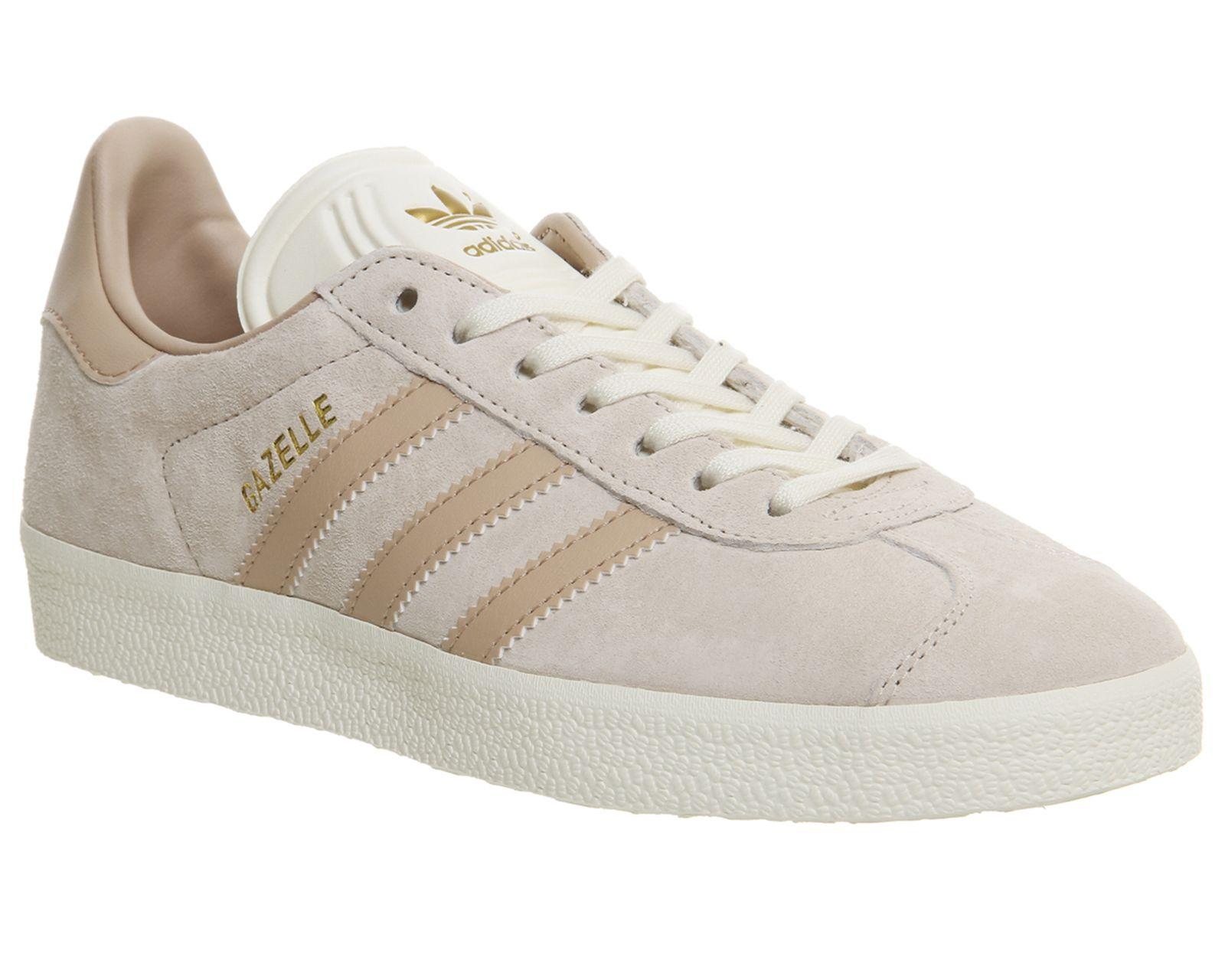 Adidas Gazelle Trainers Vapour Pink linen Cream White Exclusive