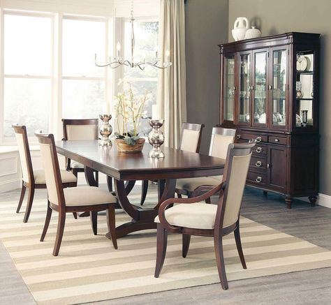alyssa dining room set w rectangular table home design rh pinterest com