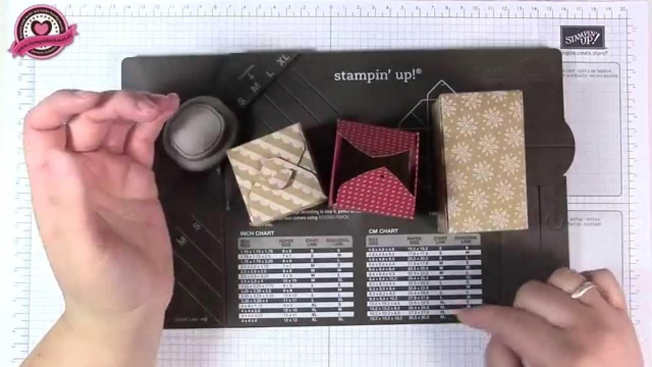 Tutorial: Stanz- und Falzbrett für Geschenkschachteln/Gift Box Punchboar...