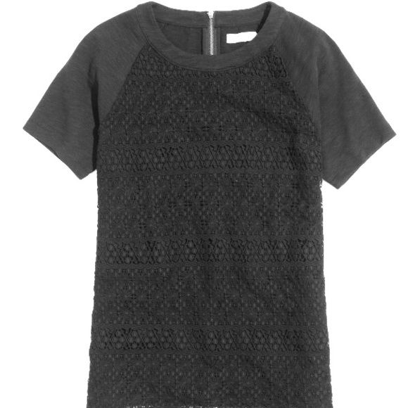 Madewell crochet mix tee T H I S      S H I R T  Probably one of my all time favorites. I've only worn it a handful of times but each event was memorable enough to finally say goodbye! It's very thick for a top but my goodness is it cute! Madewell Tops Tees - Short Sleeve