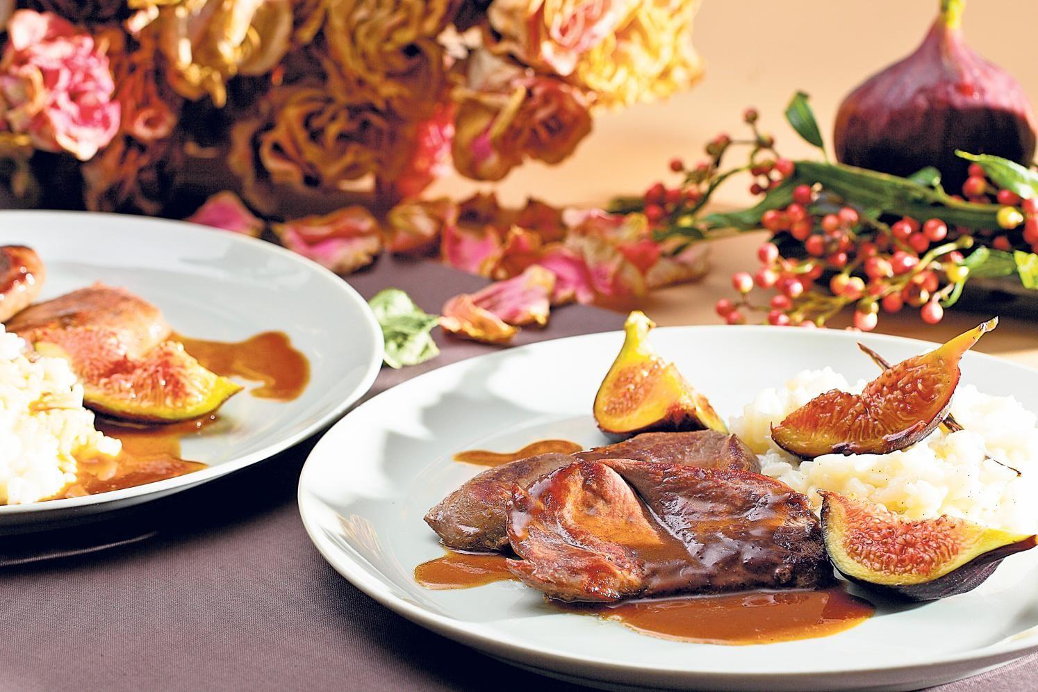 Probieren Sie Rehschnitzel an Portweinjus mit Vanillerisotto oder weitere leckere Rezepte von Coop aus der Kategorie Lamm / Wild