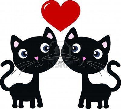 twee katten in liefde Stockfoto - 15238566
