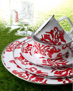 I love enamel dishes - I say  hooray  for these red u0026 white ones! & I love enamel dishes - I say
