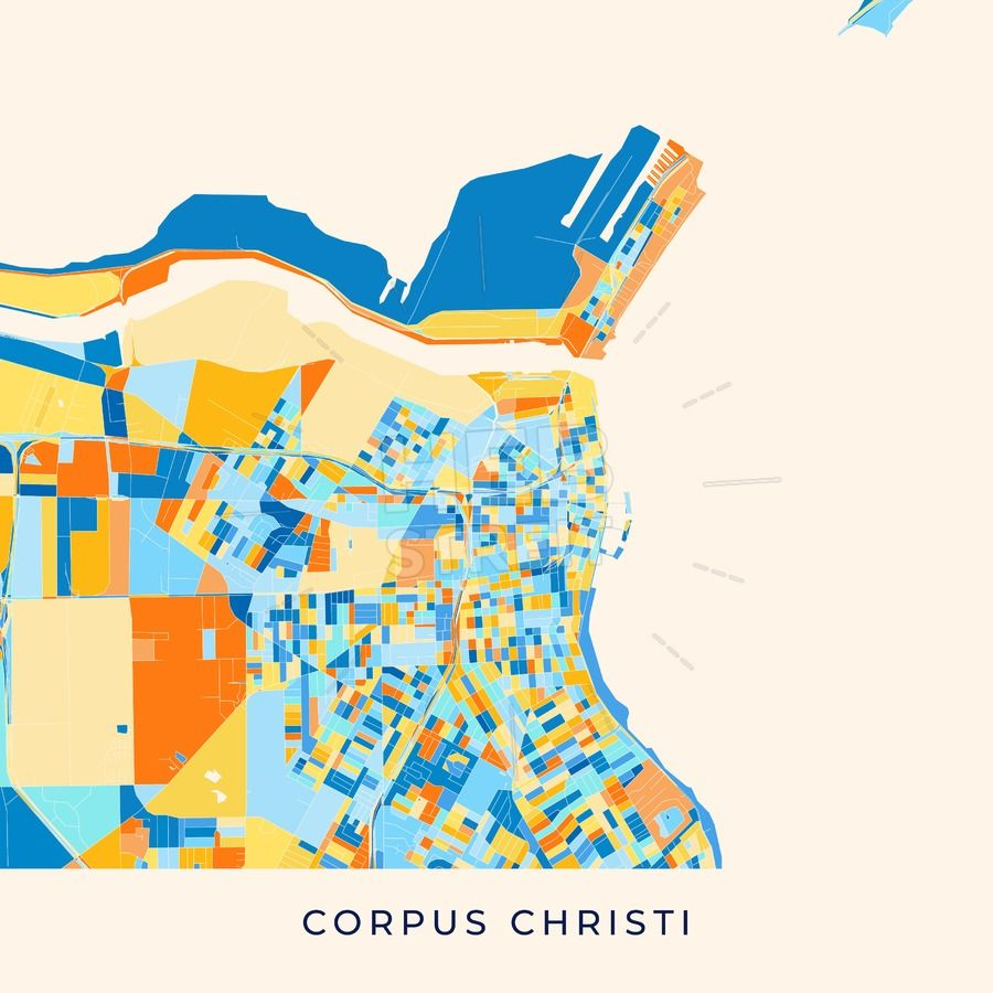 Corpus Christi Colorful Map Poster Template Poster Und Streit