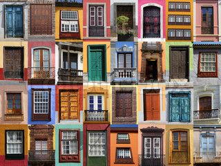 Colorful living - European doors and windows Mediterranean style