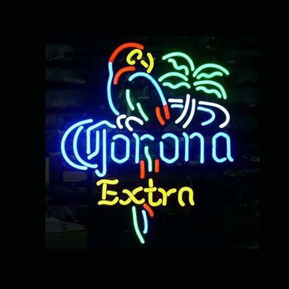 Professional corona extra parrot beer bar open neon signs ha chi corona extra parrot design decorated beer bar neon light signs for store beer bar restaurant billiards shops display signboards mozeypictures Images