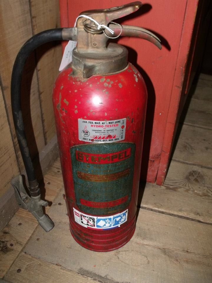 A full fire extinguisher for the collector. # ...