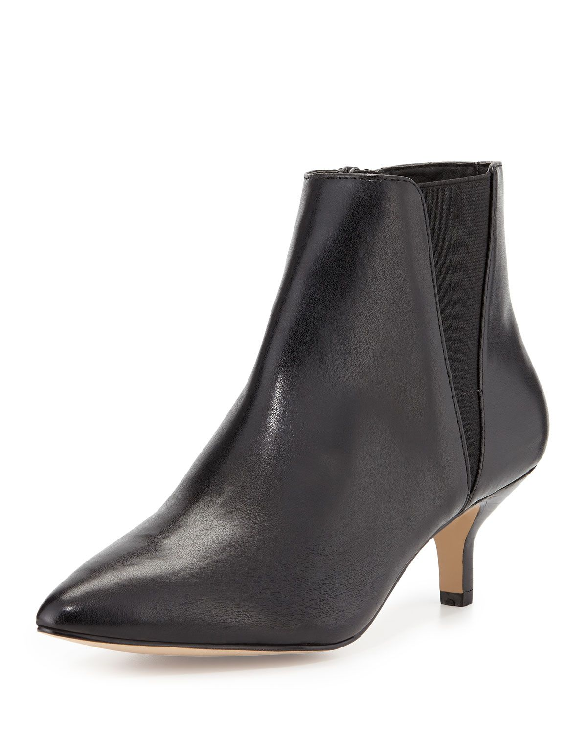 Donald J Pliner Geeo Leather Pointed-Toe Bootie, Black