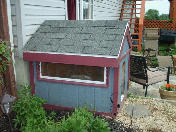 homemade dog house with window furniture i love homemade dog rh pinterest com