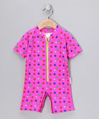 Take a look at this Pink Flora One-Piece Rashguard - Infant by A Little Splash on #zulily today!