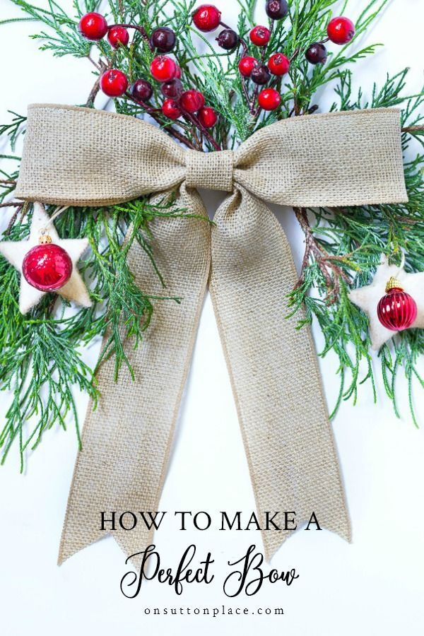 How To Make A Bow for a Wreath How to make bows, Easy
