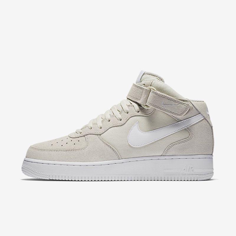 Nike Air Force 1 Mid 07 Hi Top Para Trainers En Crema Calzado Para Top Hombres 540ec2