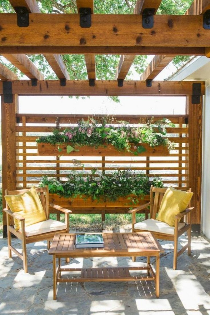 64+ Amazing Privacy Fence for Patio & Backyard Landscaping Ideas -  - #landschaftsbauideen