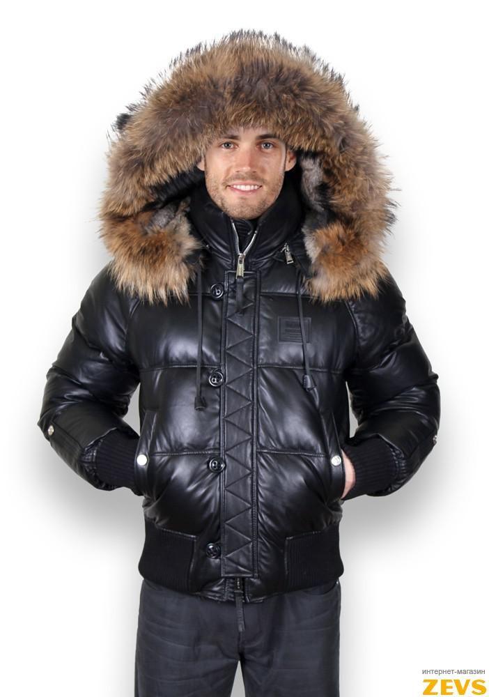 Мужские зимние кожаные куртки 1f67df9514586