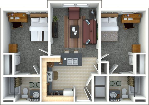 Floor Plans And Pricing For College Inn Student Apartments