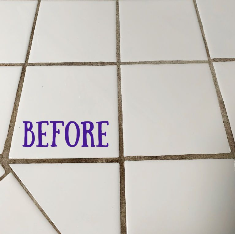 Easy Homemade Bathroom Grout Cleaner Grout Cleaner Grout Cleaning Diy Homemade Grout Cleaner