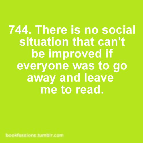 reading vs being social