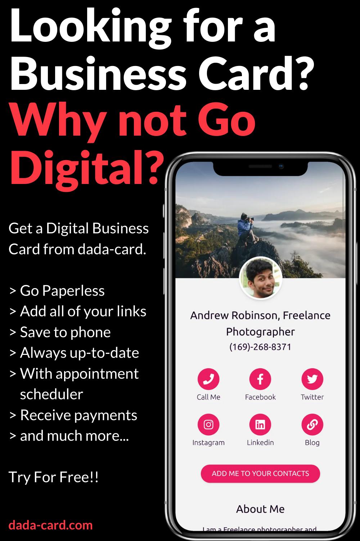 Digital Business Card Digital Business Card Digital Business Business Card Maker