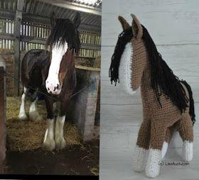 How To Crochet a Horse A free Crochet Horse Pattern. #horsepattern