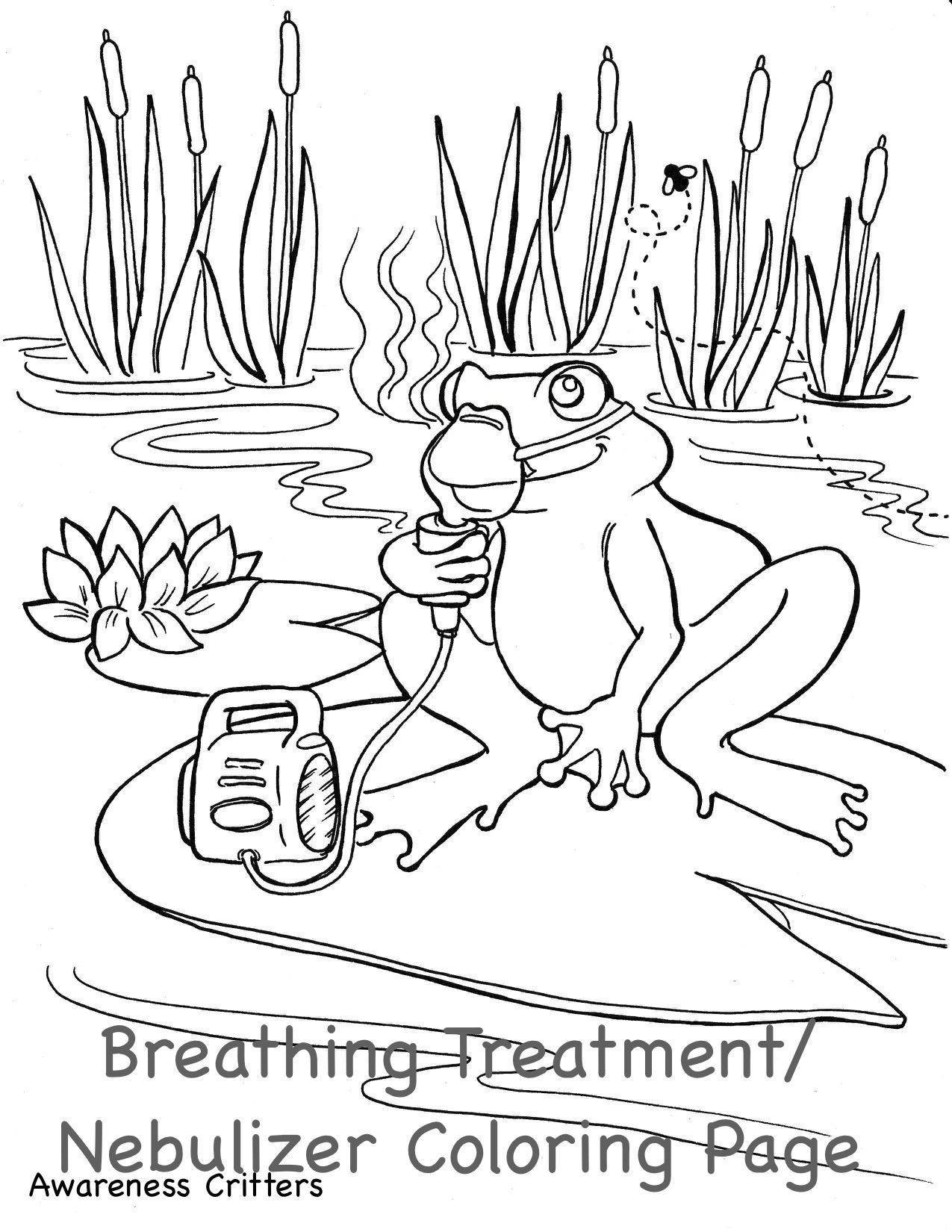 Coloring Pages Awareness Critters Coloring Pages Lungs Health